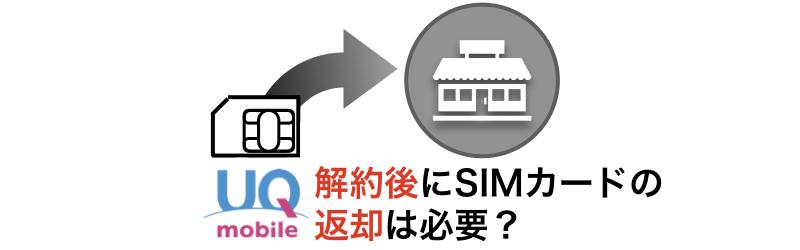 解約後にSIMカードの返却は必要か?